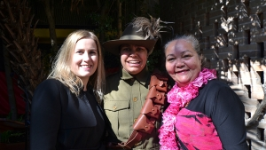 Dr. Belinda Rusoon, Elsie Amamoo, and Auntie Donna Ingram at Tranby College for Rona Tranby orientation